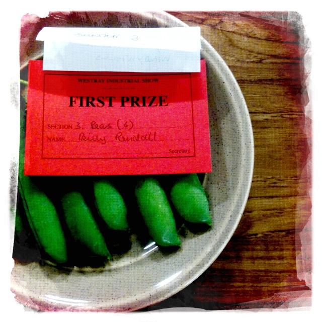 Prizewinning vegetables