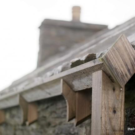 Wooden gutters