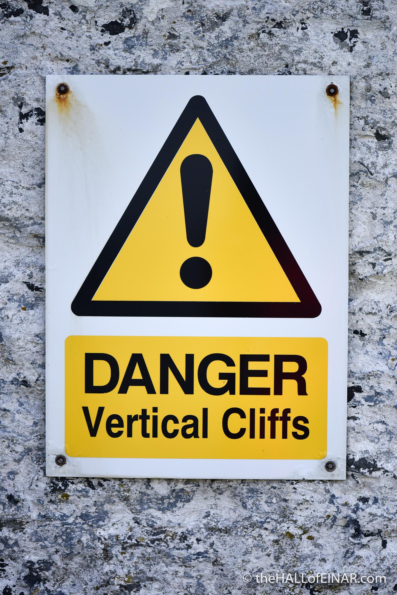 Danger - Vertical Cliffs - photograph copyright David Bailey (not the) 2016