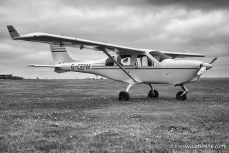 Light Aircraft over Orkney - photograph (c) 2016 David Bailey (not the)
