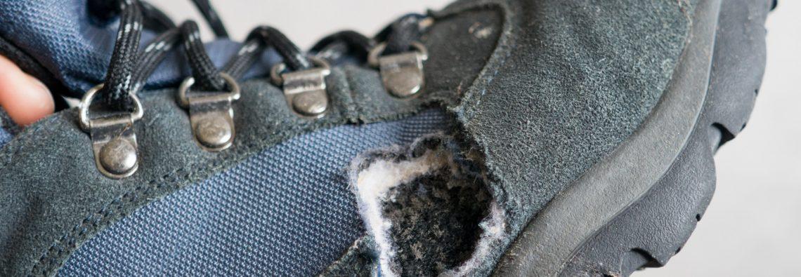 Mice nibble... walking boots