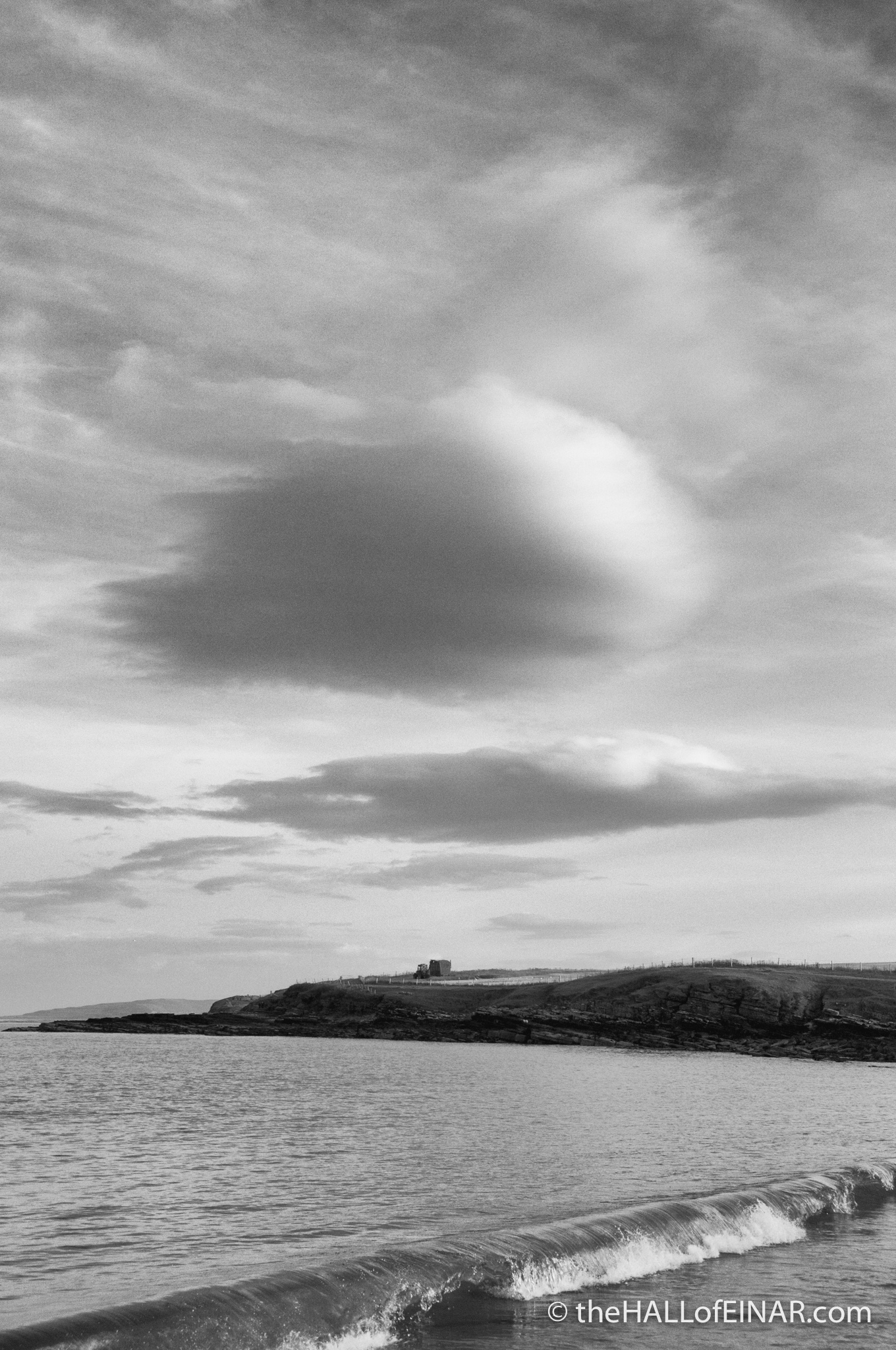 Waves break and clouds gather - photograph (c) 2016 David Bailey (not the)