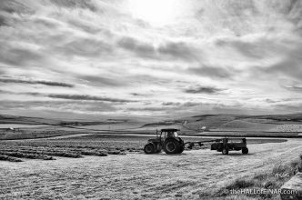 Tractor in the field - photograph (c) 2016 David Bailey (not the)