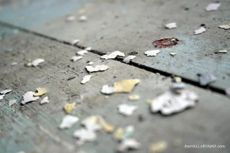 Peeling paint on the floor - photograph (c) 2016 David Bailey (not the) - The Hall of Einar