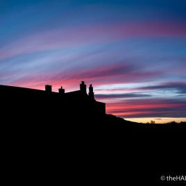 Sunset over Einar - The Hall of Einar - photograph (c) 2016 David Bailey (not the)