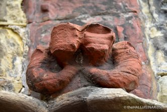 Weathered Sculptures at St Magnus Cathedral - photograph (c) 2016 David Bailey (not the)
