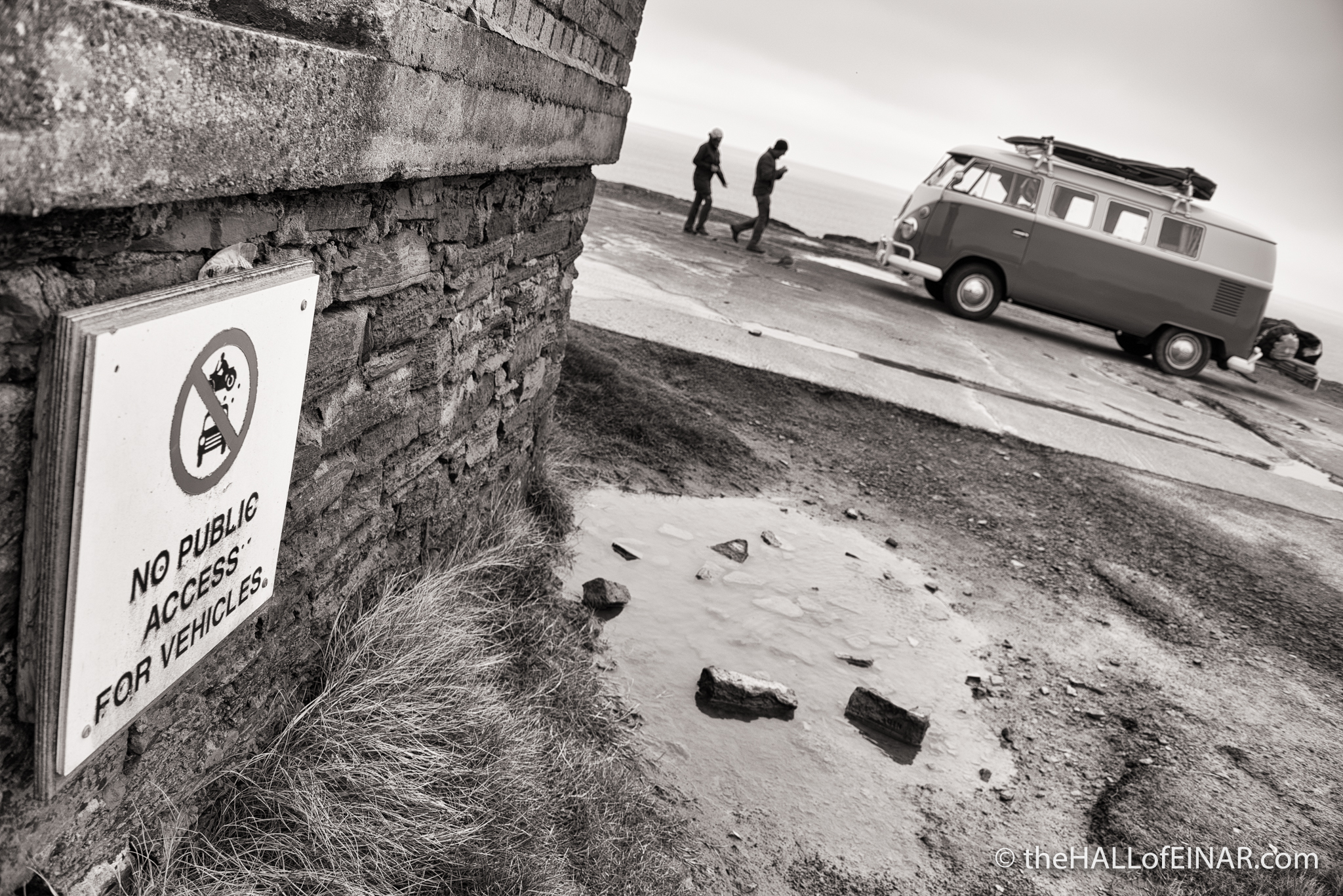 No vehicles - photograph (c) David Bailey (not the)
