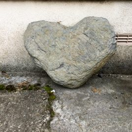 Stone heart - photograph (c) David Bailey (not the)