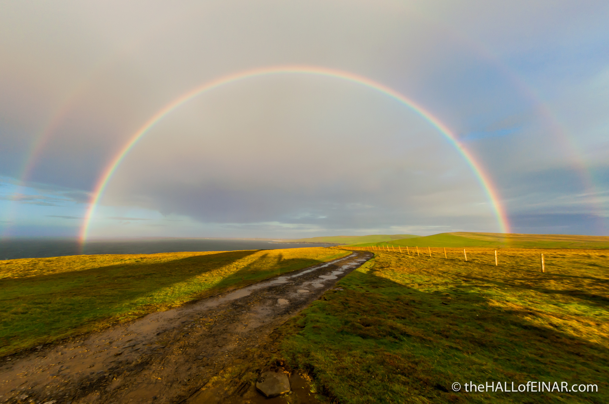 Rainbows at Noup Head - photograph (c) 2016 David Bailey (not the)