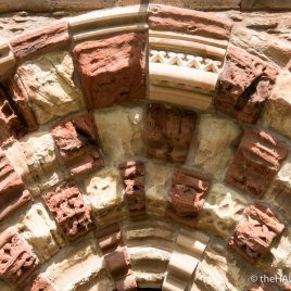 Old and new carvings at St Magnus Cathedral - photograph (c) David Bailey (not the)