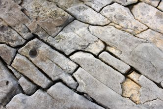 Cracked rocks - The Hall of Einar - photograph (c) David Bailey (not the)