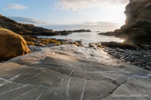 Alone on the rocky shore - The Hall of Einar - photograph (c) David Bailey (not the)