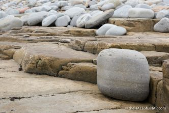 Cobble beach - The Hall of Einar - photograph (c) David Bailey (not the)