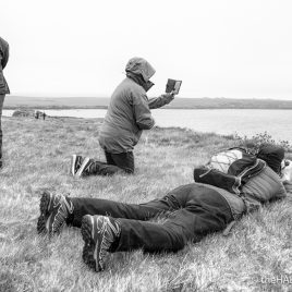 Puffin Watchers - The Hall of Einar - photograph (c) David Bailey (not the)