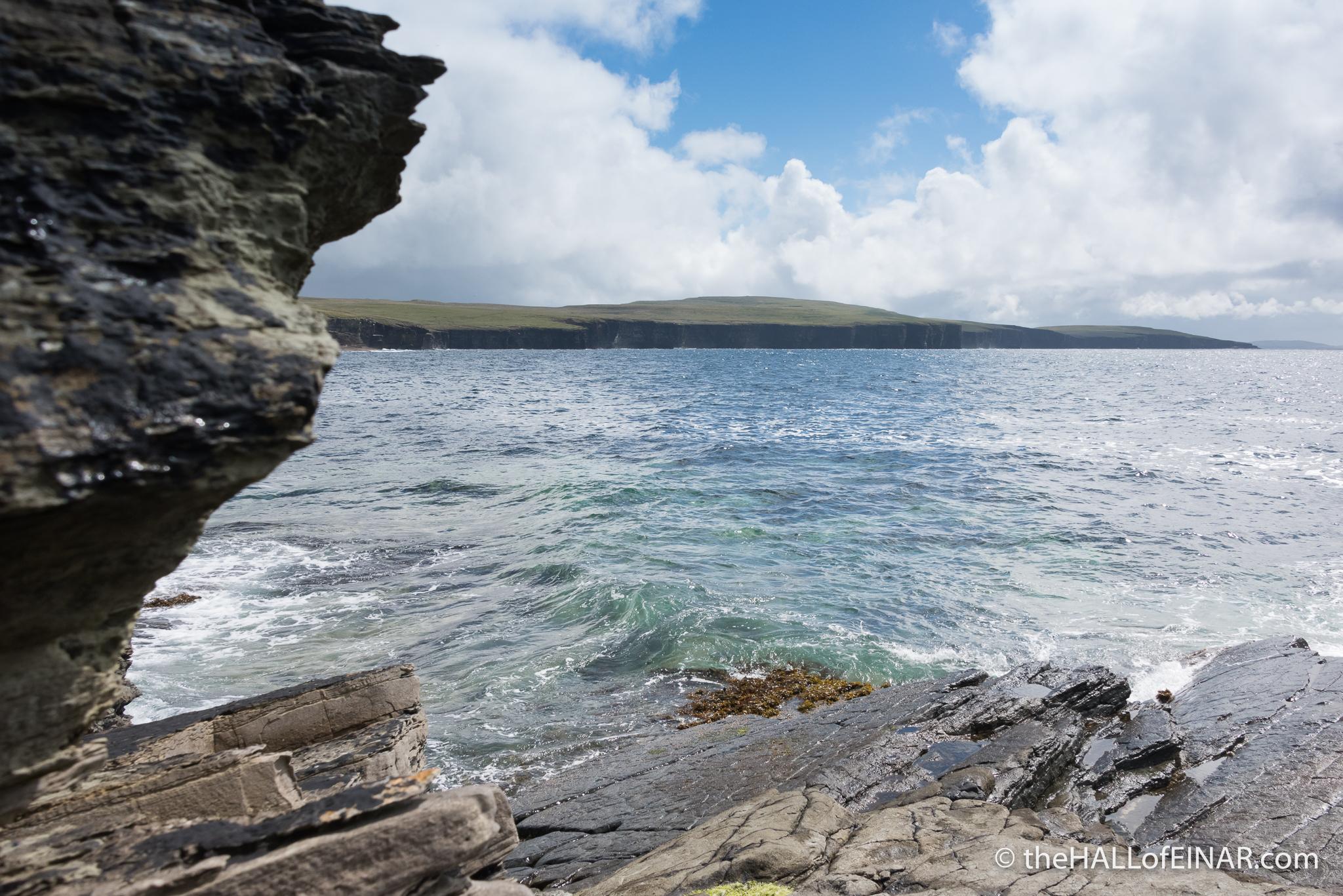 Westray coastline - The Hall of Einar - photograph (c) David Bailey (not the)