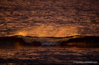 Sunset Westray - The Hall of Einar - photograph (c) David Bailey