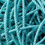Oozy Coils of rope on the harbour in Kirkwall - photograph (c) 2007 David Bailey (not the)