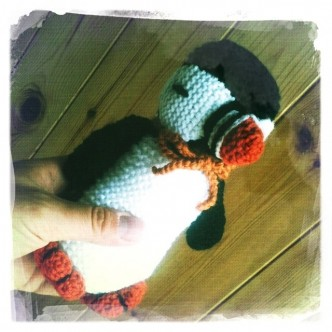 Knitted Puffin