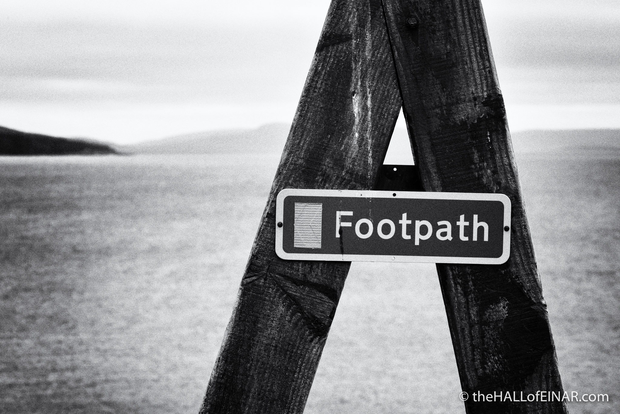 Footpath on Westray - photograph (c) 2016 David Bailey (not the)