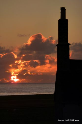 Sunset over Einar - photograph (c) 2016 David Bailey (not the)