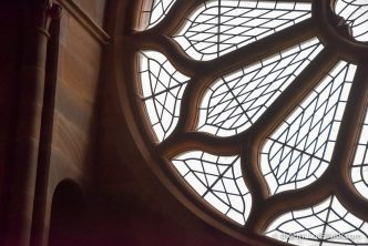 Rose Window in St Magnus Cathedral - The Hall of Einar - photograph (c) 2016 David Bailey (not the)