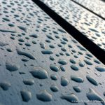 Droplets on the bench - photograph (c) 2016 David Bailey (not the)