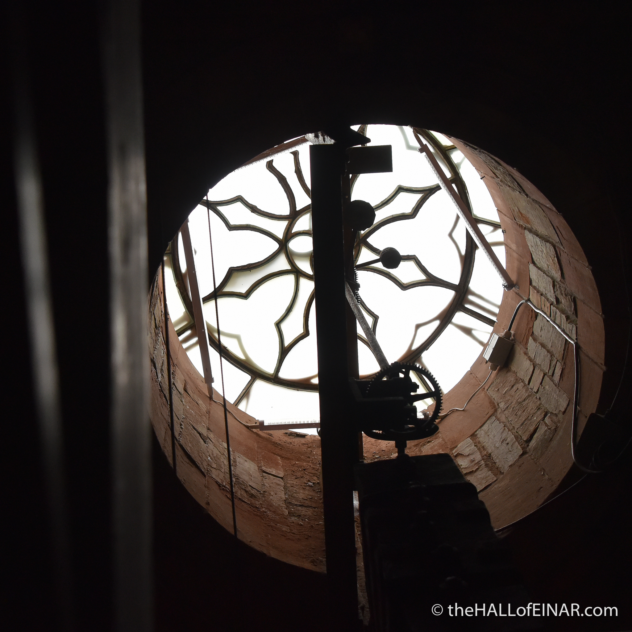 St Magnus Cathedral clock - photograph (c) David Bailey (not the)