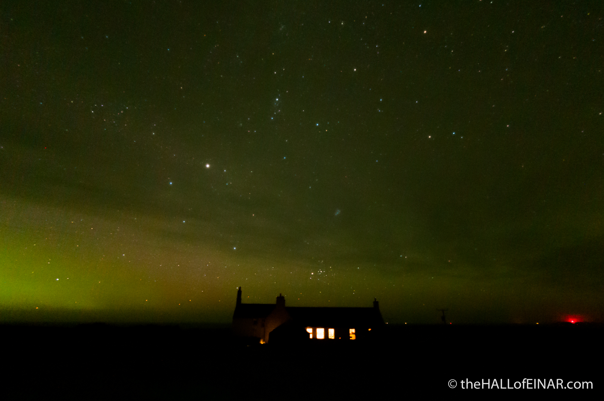 Einar and the Northern Lights - photograph (c) David Bailey (not the)