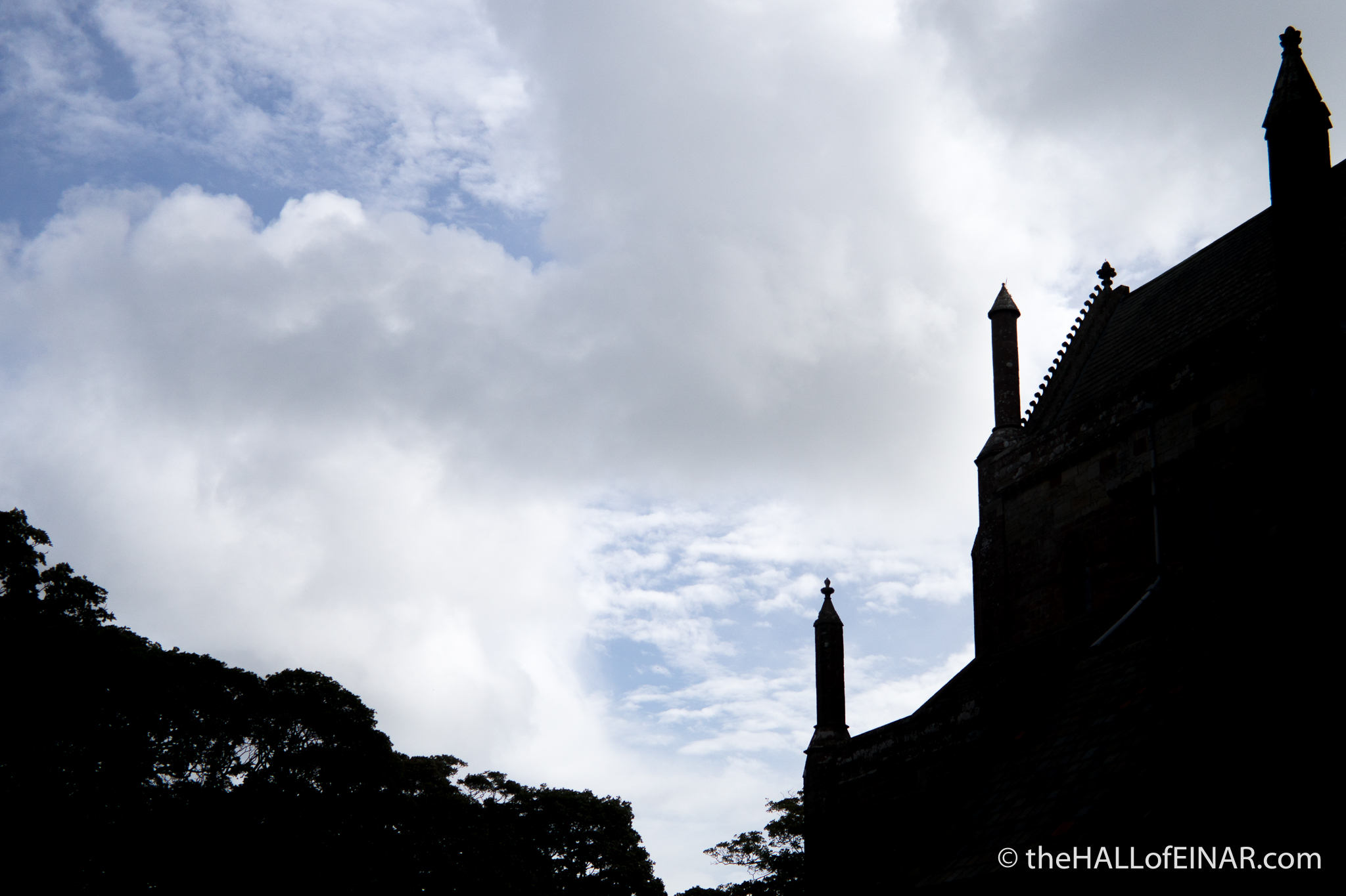 St Magnus Cathedral silhouette - photograph (c) David Bailey (not the)
