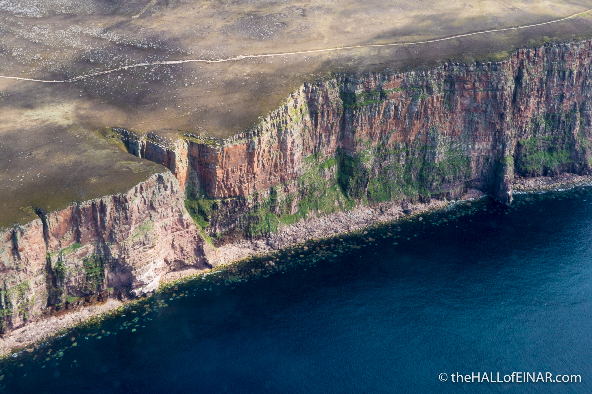 Beguiling - the cliffs of Orkney's coastline - photograph (c) David Bailey (not the)