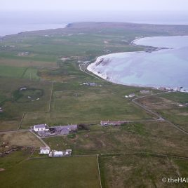 Papa Westray from the air - photograph (c) David Bailey (not the)