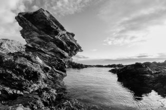 Rock stack - The Hall of Einar - photograph (c) David Bailey (not the)