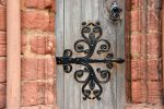 Hinges at St Magnus Cathedral - The Hall of Einar - photograph (c) David Bailey (not the)