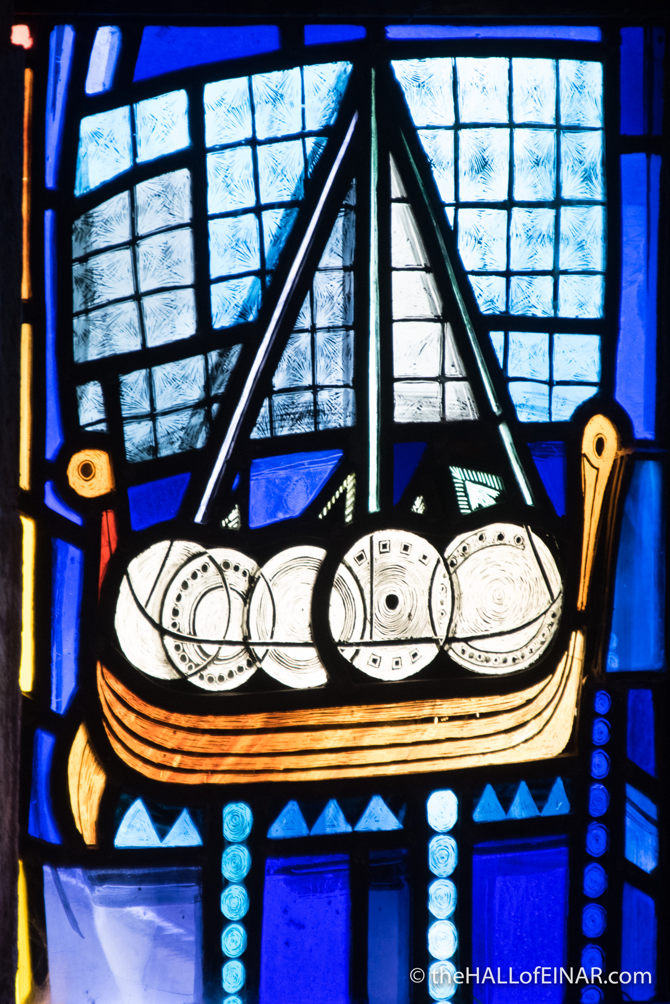 Longship in St Magnus Cathedral - The Hall of Einar - photograph (c) David Bailey (not the)