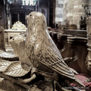 Carving in St Magnus Cathedral - The Hall of Einar - photograph (c) David Bailey (not the)