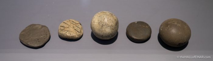 Stone Balls in Orkney Museum - The Hall of Einar - photograph (c) David Bailey (not the)