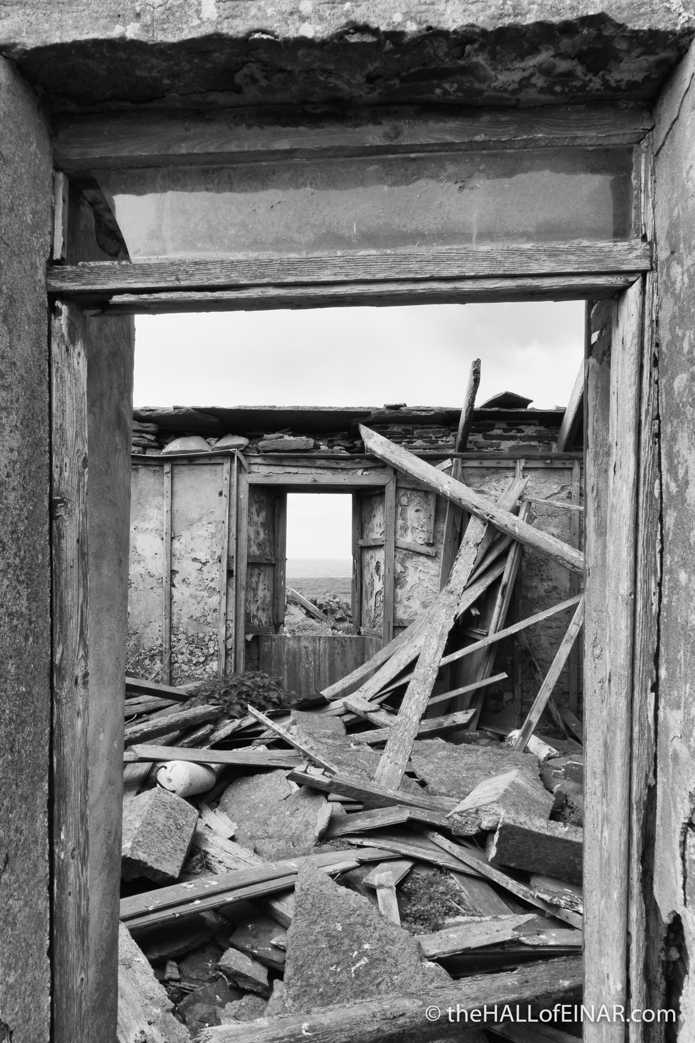 The Doorway Remains - The Hall of Einar - photograph (c) David Bailey (not the)