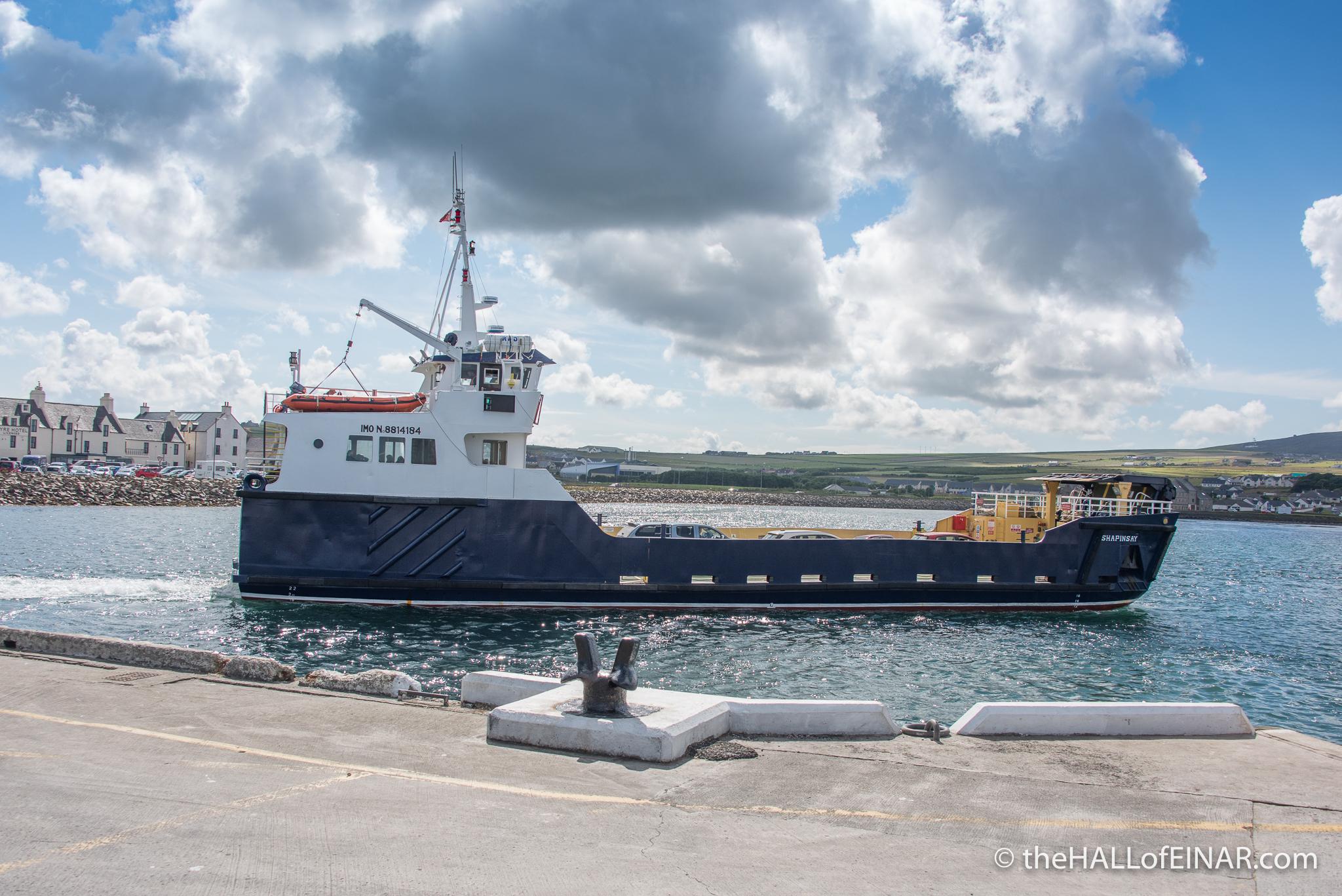 Shapinsay Ferry - The Hall of Einar - photograph (c) David Bailey (not the)