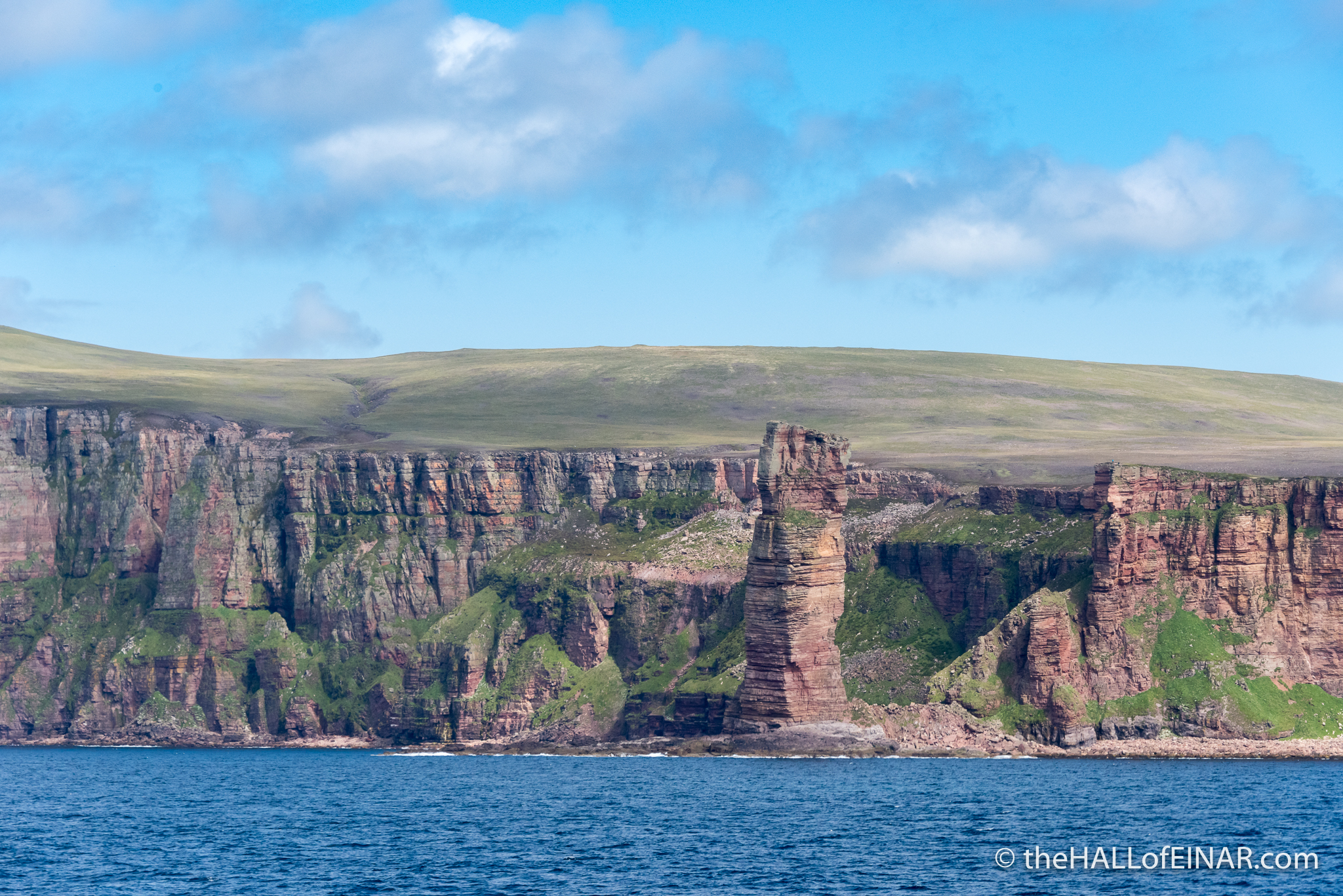 The Old Man of Hoy - The Hall of Einar - photograph (c) David Bailey (not the)