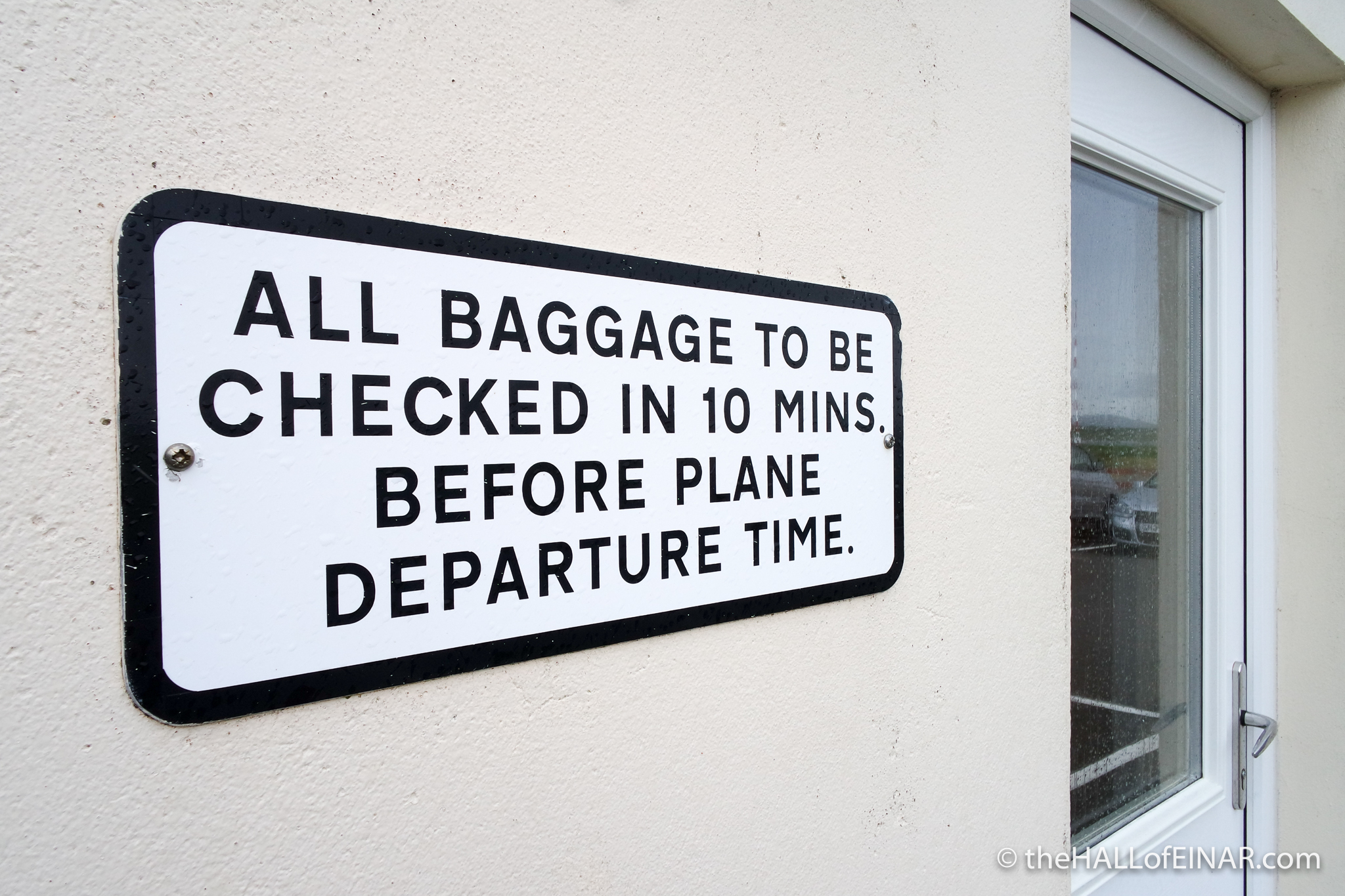 Baggage Check-In - The Hall of Einar - photograph (c) David Bailey (not the)
