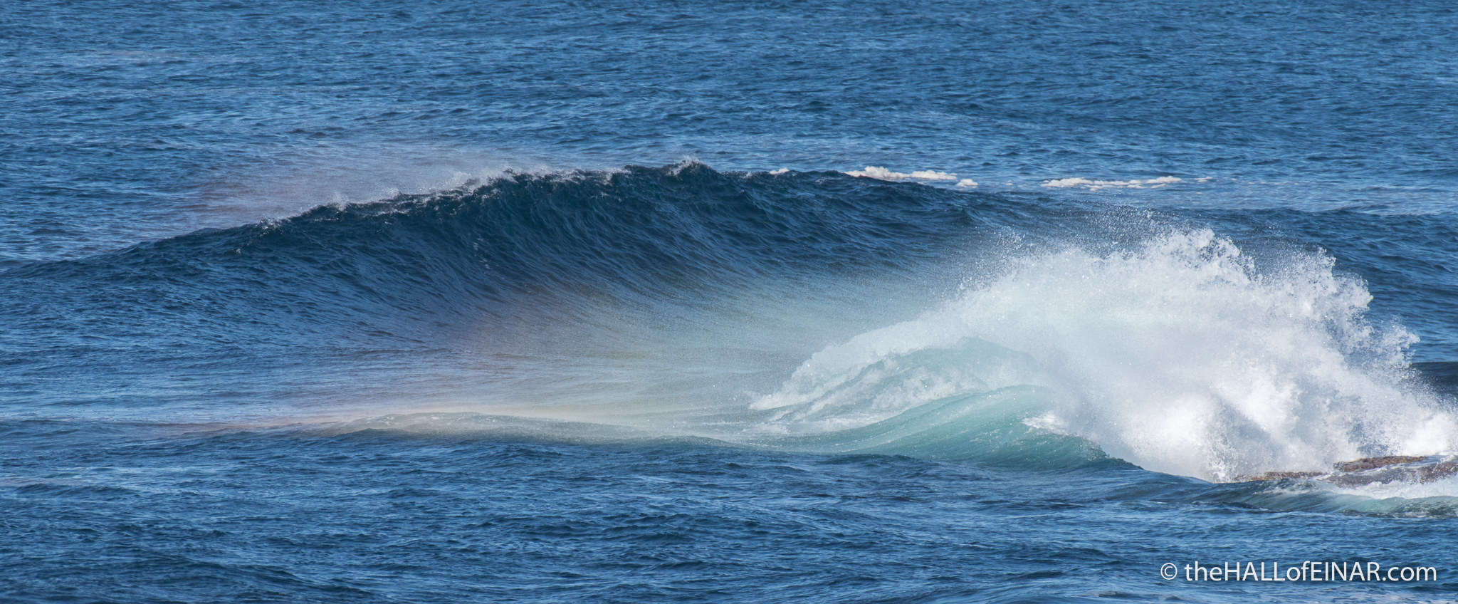 Rainbow Wave - The Hall of Einar - photograph (c) David Bailey (not the)