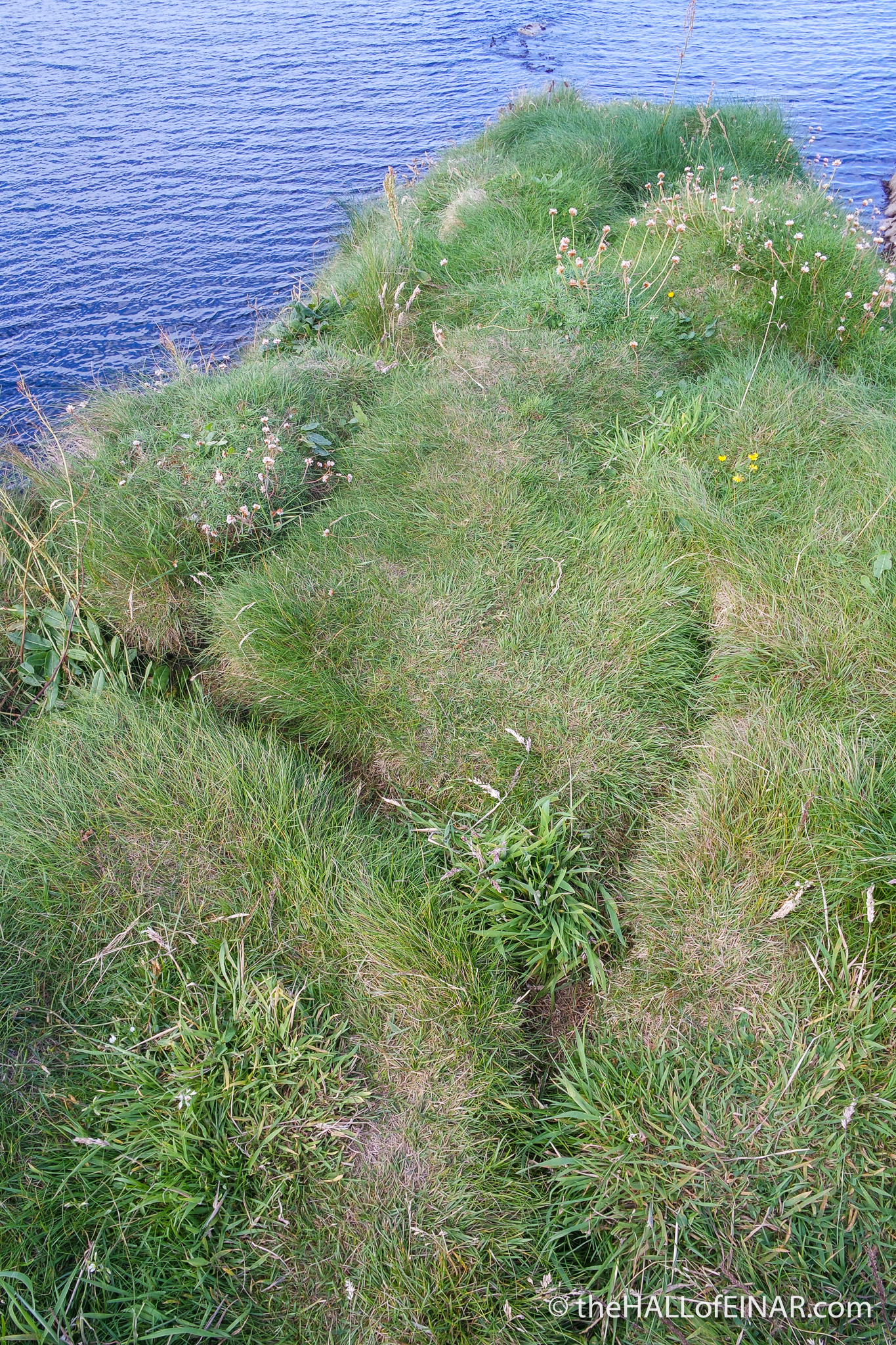Collapsed Burrows - The Hall of Einar - photograph (c) David Bailey (not the)