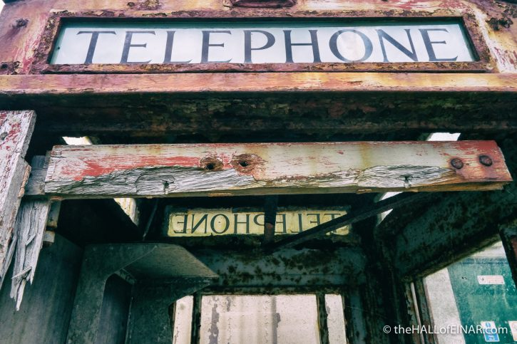 Telephone box - The Hall of Einar - photograph (c) David Bailey