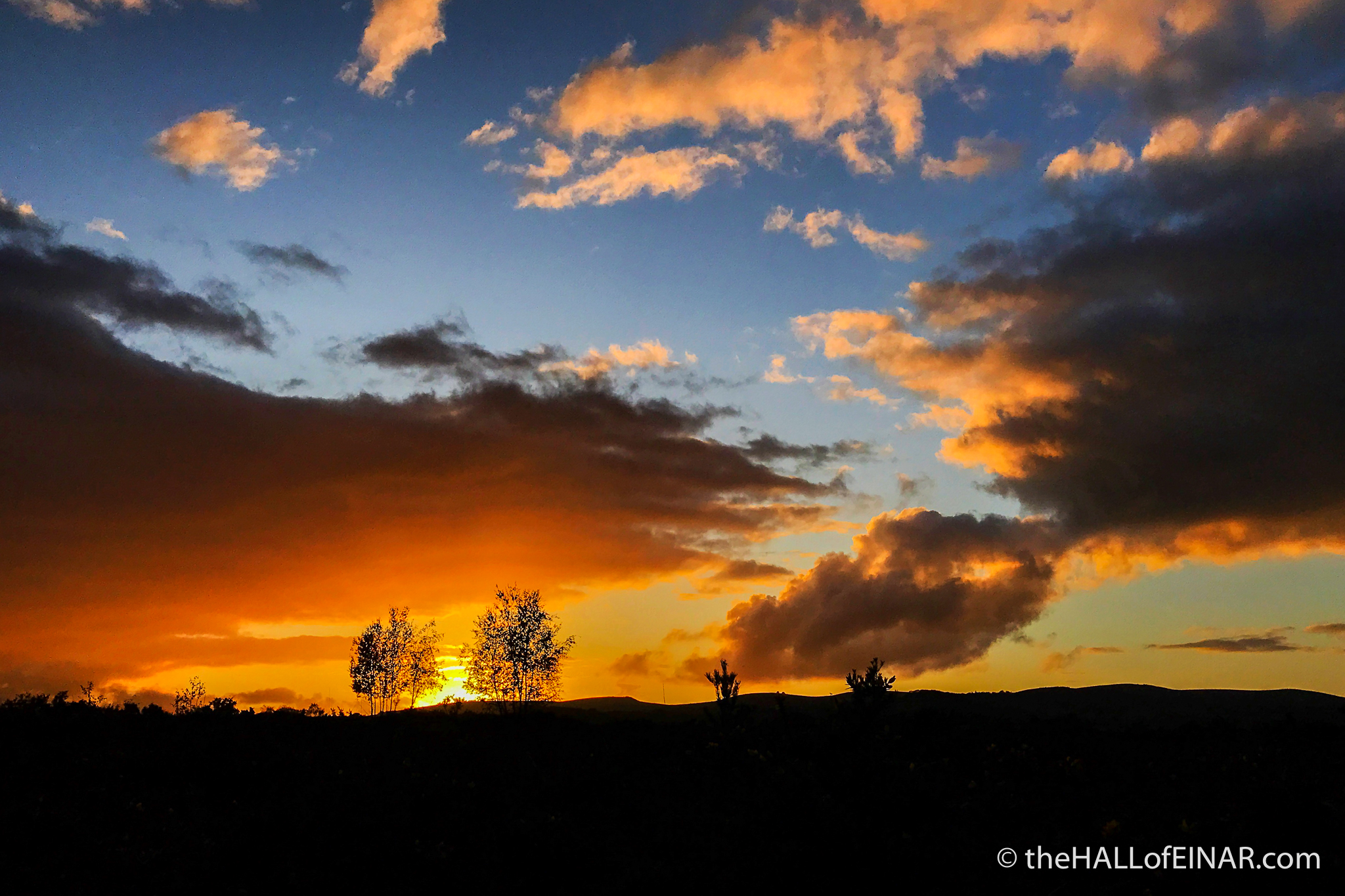 Sunset - Bovey Heath - The Hall of Einar - photograph (c) David Bailey (not the)