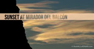 Sunset at Mirador del Balcón, Gran Canaria - The Hall of Einar