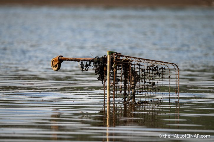 Shopping Trolley - River Teign - The Hall of Einar - photograph (c) David Bailey