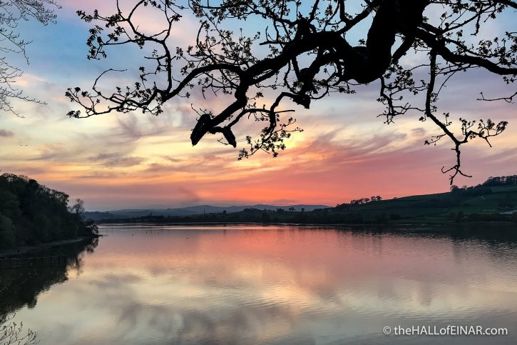 Sunset - River Teign - The Hall of Einar - photograph (c) David Bailey (not the)