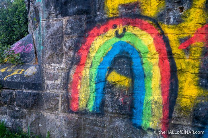 Rainbow - The Hall of Einar - photograph (c) David Bailey (not the)