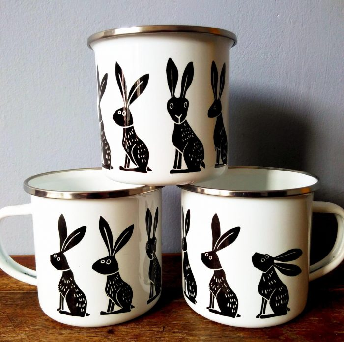 Hares Mug - Melanie Wickham
