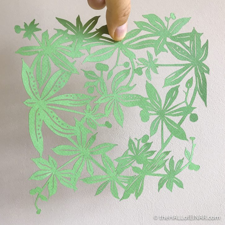 Goosegrass Papercut - The Hall of Einar - (c) David Bailey (not the)